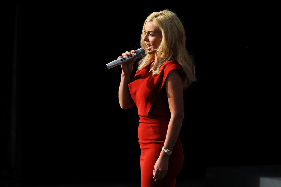 Singer Katherine Jenkins performs at the opening ceremony of the Ryder Cup, 2010