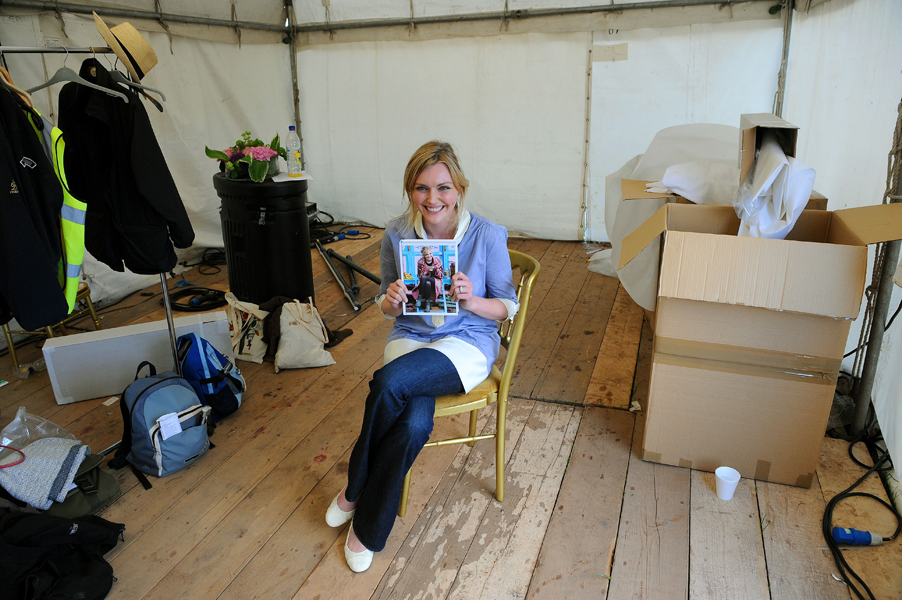Sophie Dahl backstage at the Hay Festival