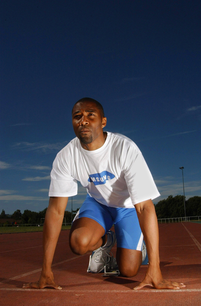 Olympic sprinter Darren Campbell for Samsung
